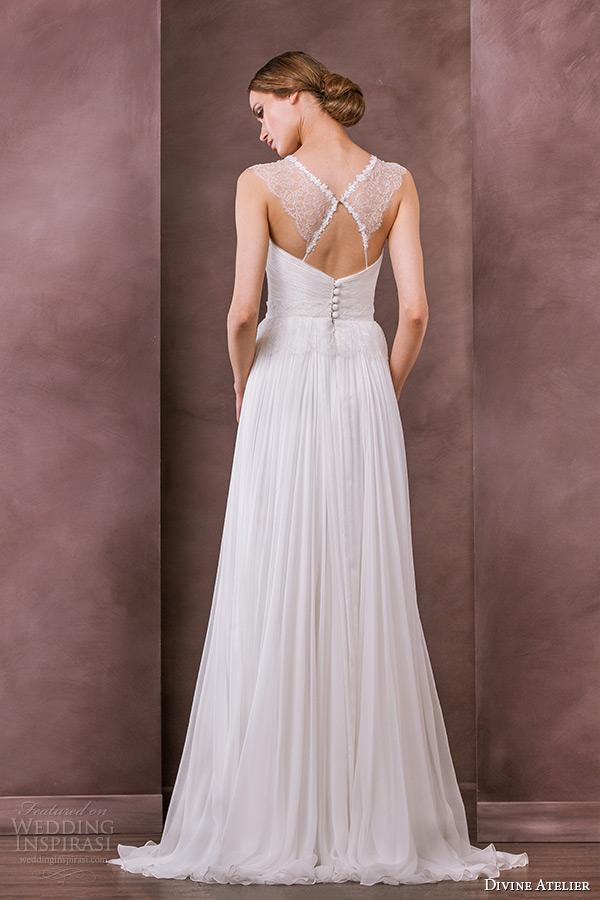 divine atelier wedding dress 2015 bridal illusion jewel neckline a line gown sienna back