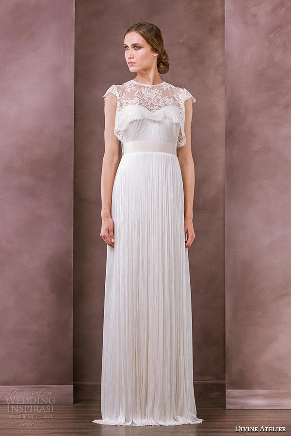 divine atelier wedding dress 2015 bridal lace cap sleeves jewel neckline bolero aria