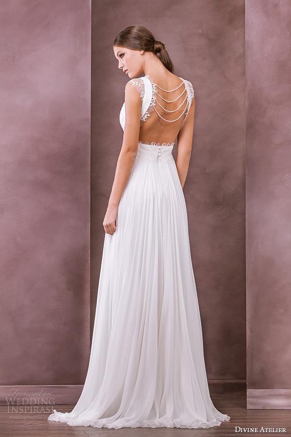 divine atelier wedding dress 2015 bridal plunging v neckline a line gown chloe back