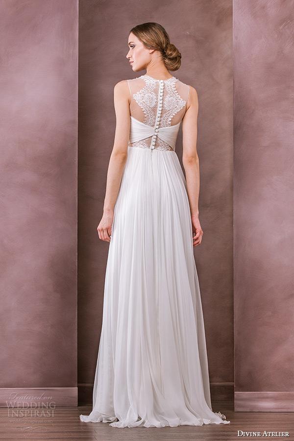 divine atelier wedding dress 2015 bridal sheer jewel neckline empire gown idilia back