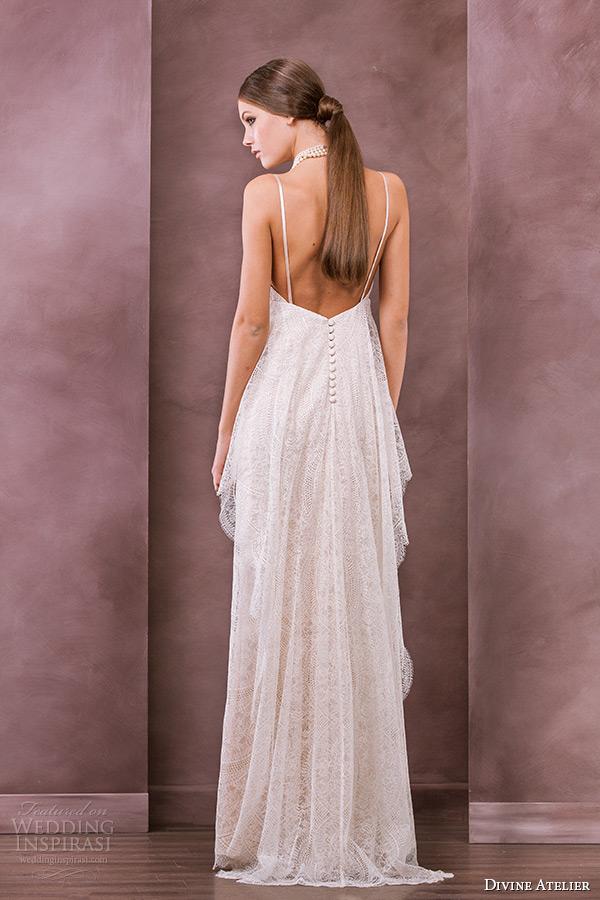divine atelier wedding dress 2015 bridal spagetti strap empire gown thea back