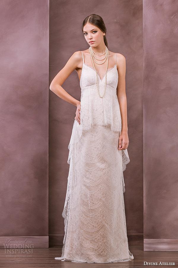 divine atelier wedding dress 2015 bridal spagetti strap empire gown thea