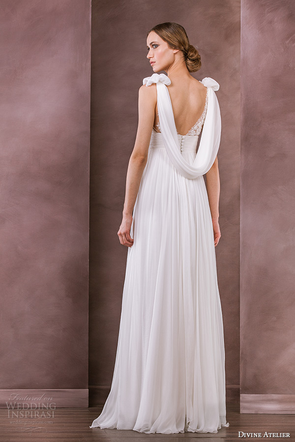 Divine atelier 2015 wedding dresses nostalgia bridal collection divine atelier wedding dress 2015 bridal v neckline sleeveless grecian empire gown raysa back junglespirit Image collections