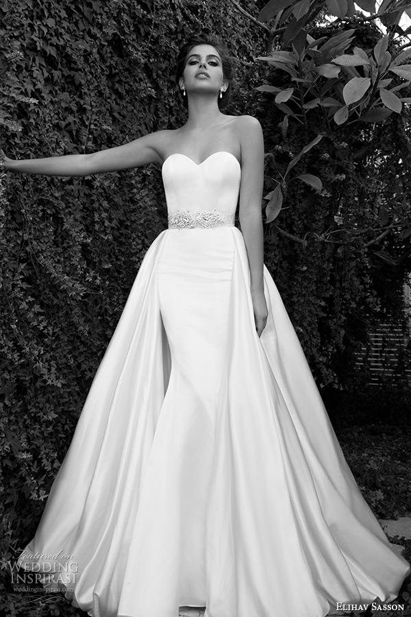 Elihav sasson 2015 wedding dresses wedding inspirasi for Wedding dress with cape train