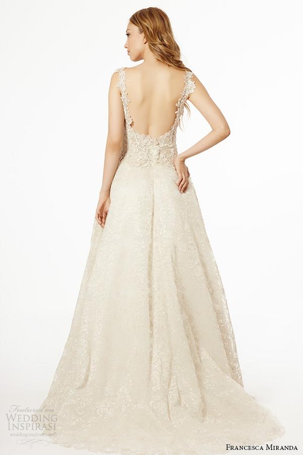 Francesca miranda wedding dress fall 2015 sleeveless for Aline wedding dress sweetheart neckline