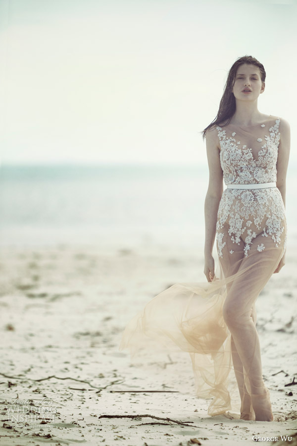 Nude Wedding Dresses 11 Marvelous george wu bridal wulfilas