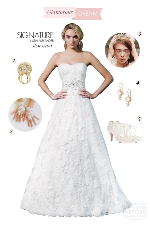 justin alexander signature wedding dress style 9700 glamorous dream bridal inspiration style board