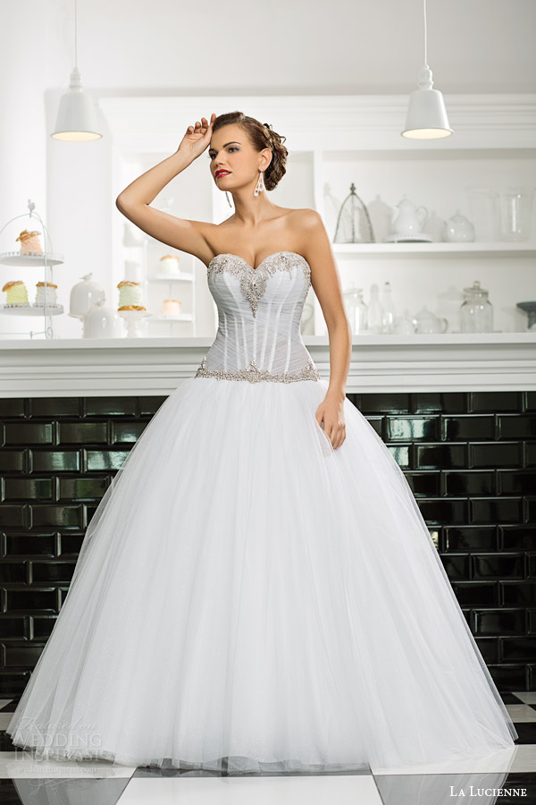 La lucienne 2015 wedding dresses luxury bridal for Drop waist ball gown wedding dress