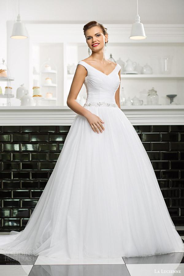 Ruching Wedding Dress 62 Simple la lucienne bridal topaz