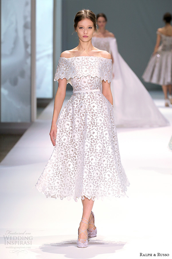 Short Off White Wedding Dresses 84 Ideal ralph and russo spring