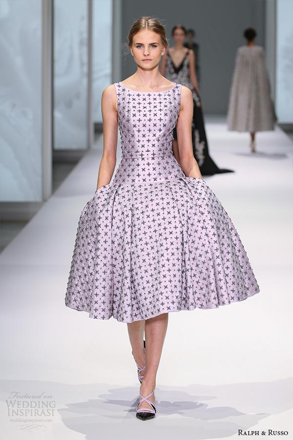 Short Purple Wedding Dress 89 Fancy ralph and russo spring