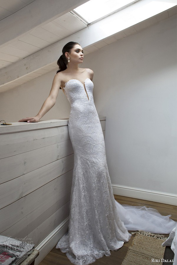 Riki dalal 2015 wedding dresses lorraine bridal for Low cut back wedding dress