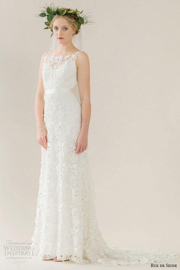 Guipure Lace Wedding Dress 15 Lovely rue de seine wedding