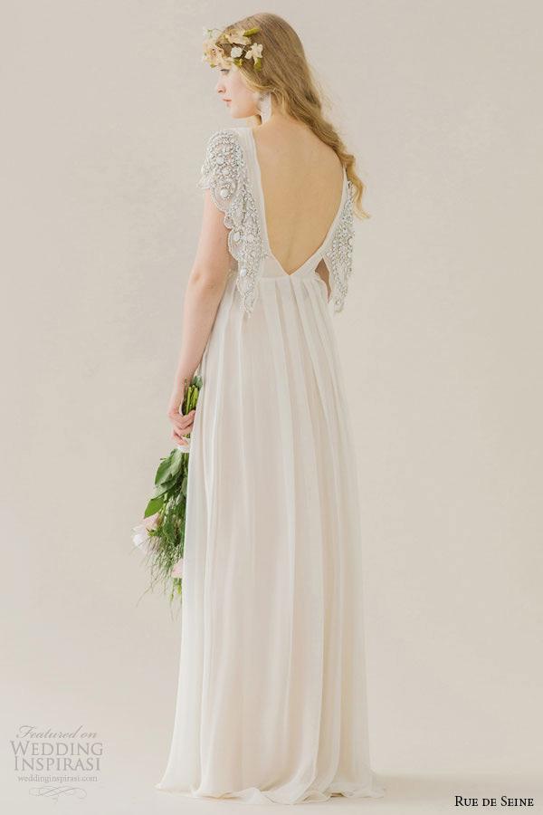 Rue de seine wedding dresses young love bridal for Butterfly back wedding dress