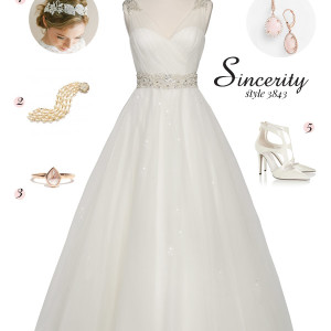 sincerity bridal style 3843 sleeveless ball gown wedding dress bridal inspiration balletic grace pink pearl rose gold