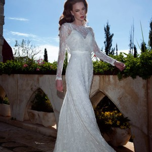 tamara 2013 2014 tali wedding dress illusion long sleeves