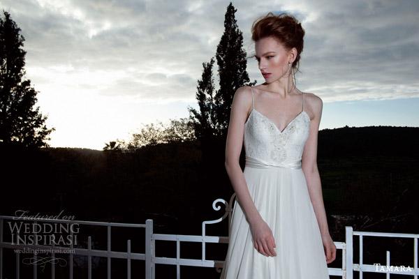 tamara 2013 2014happiness sleeveless wedding dress a line thin straps