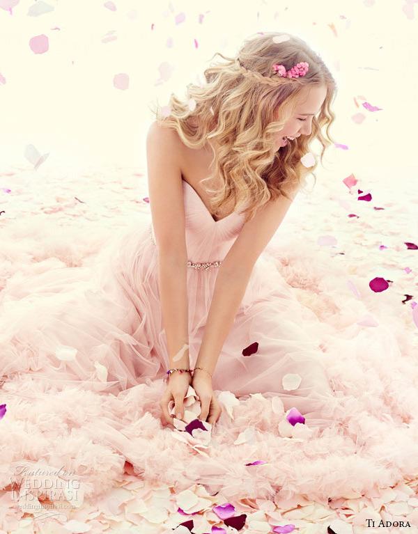 ti adora weding primavera vestido 2015 net Inglês um vestido de linha drapeado decote cinto de cristal cintura natural 7511 sanise zoom