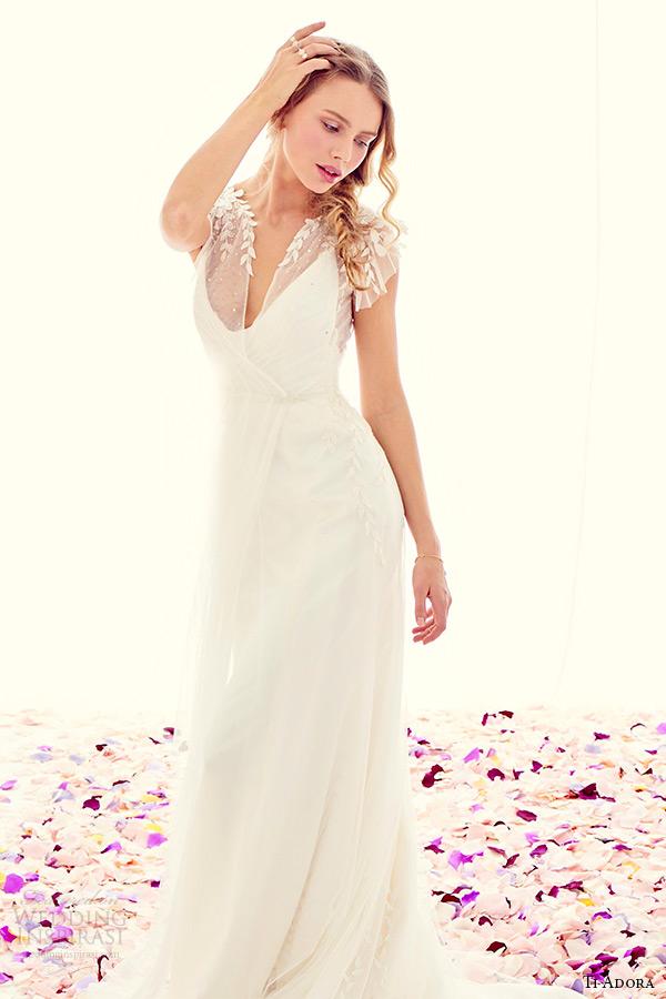 ti adora weding primavera vestido 2015 marfim charmeuse modificou um vestido vestido de linha destacável envoltório líquido bordado 7512 completo