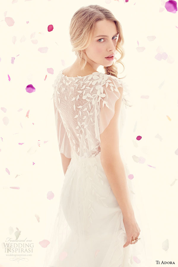 ti adora weding primavera vestido 2015 marfim charmeuse modificado um vestido de linha destacável envoltório net vestido bordado de 7512 o zoom