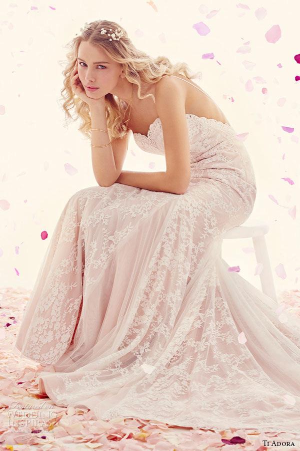 ti adora weding primavera vestido 2015 rendas de uma tiras decote linha vestido recortado querido inglês godets líquido saia 7510 jules