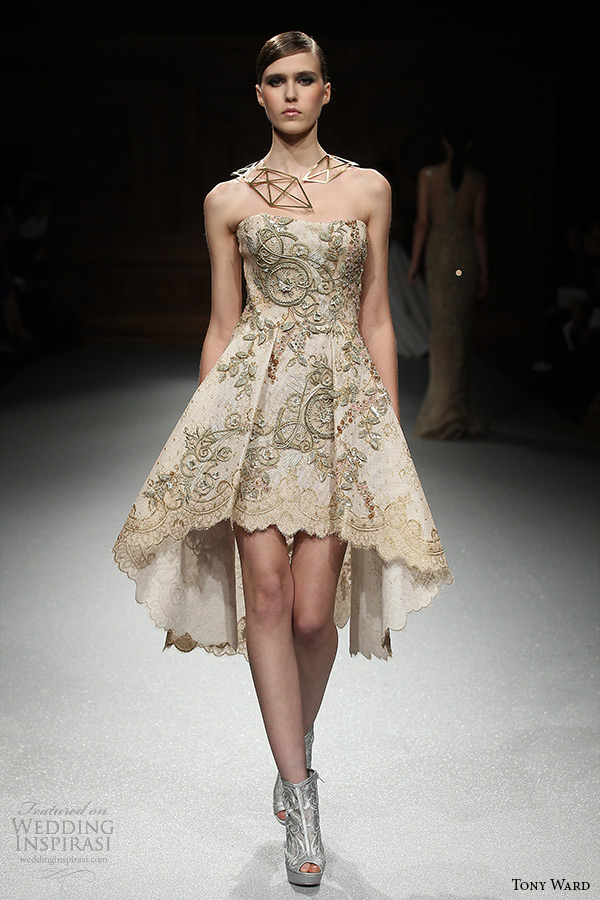 Tony ward spring 2015 couture collection wedding inspirasi for Short couture wedding dresses