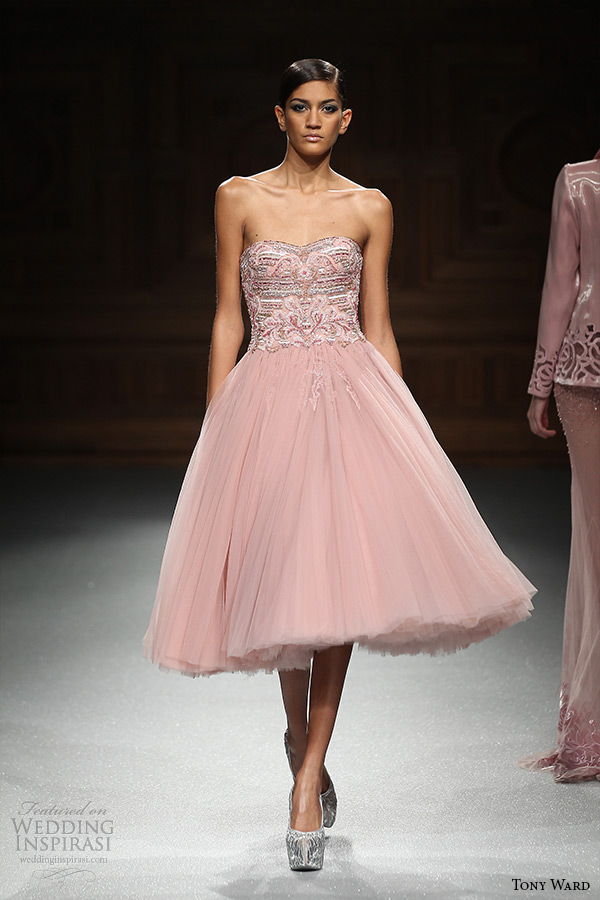 Tony ward spring 2015 couture collection wedding inspirasi for Short fluffy wedding dresses