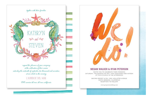 wedding paper divas invites watercolor wedding invitation seaside sacrament passionate vow whimsical design