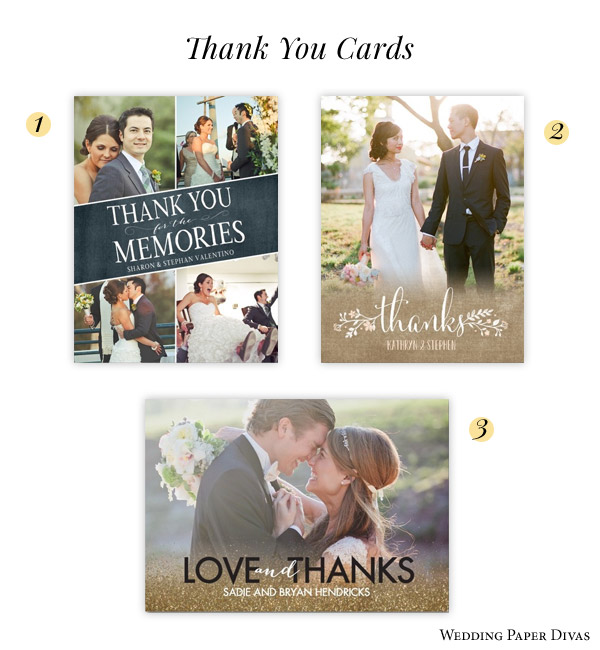 Wedding Paper Divas Photo Thank You Cards Stunning Union Wreathed In Love Touching Memories