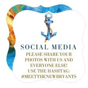 wedding paper divas seaside romance social media mini card enclosure cards wedding hashtag