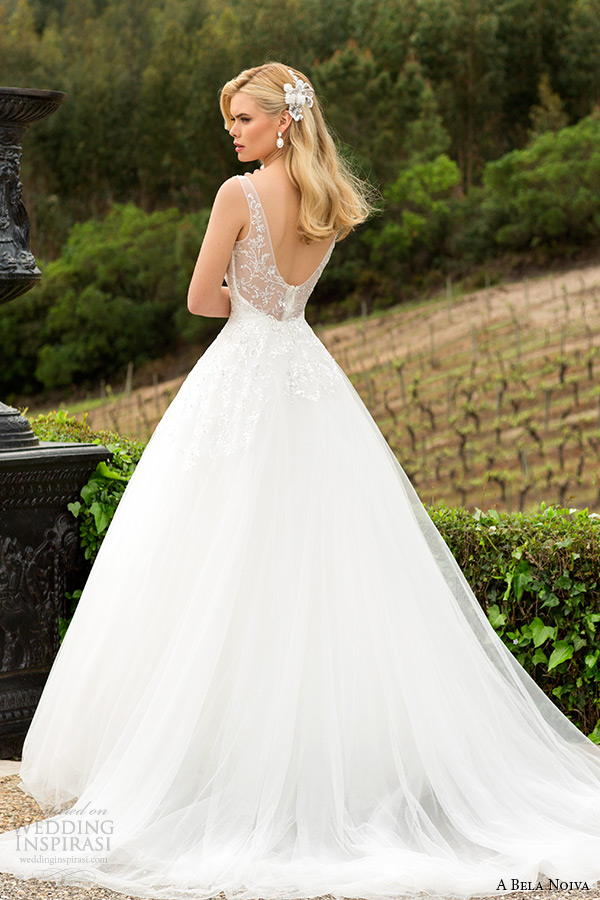 Low Illusion Back Wedding Dress Style 6125 Price : Wedding dress illusion strap low cut back a line bridal gown