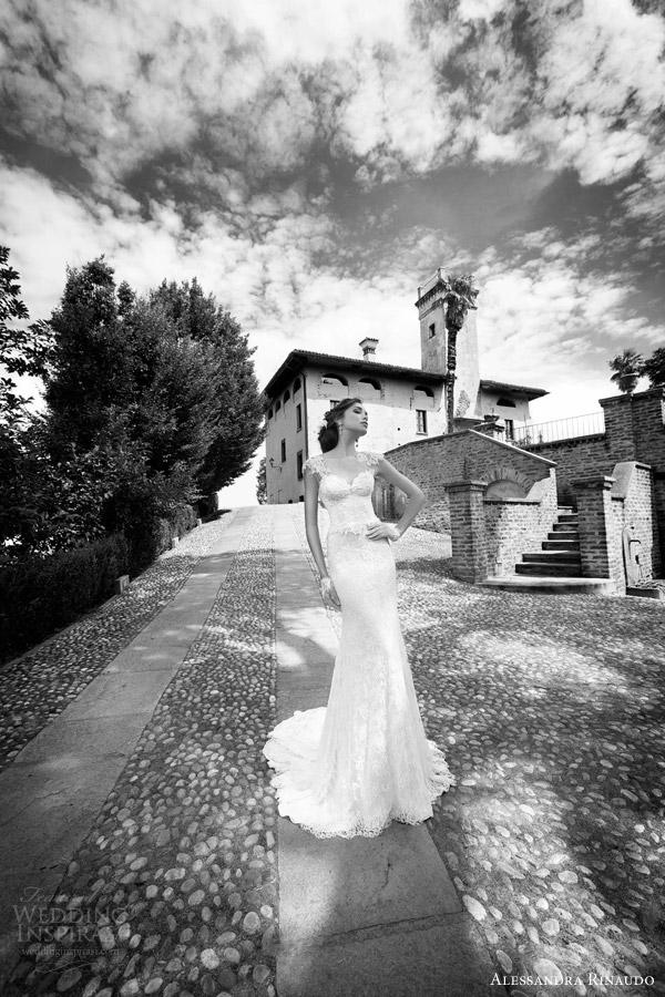 alessandra rinaudo bridal 2015 sadie cap sleeve sheath wedding dress
