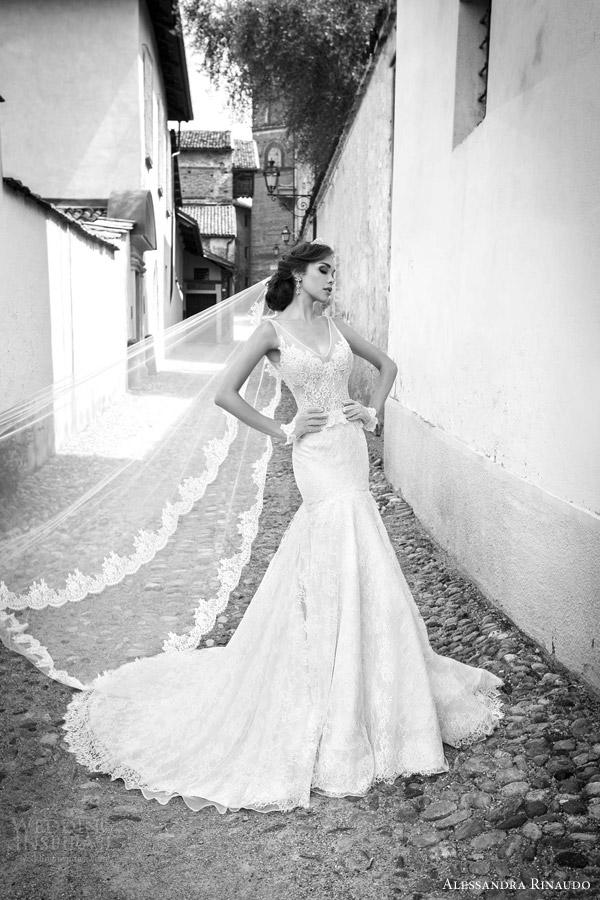 alessandra rinaudo bridal 2015 safiya sleeveless wedding dress illusion straps fit flare silhouette