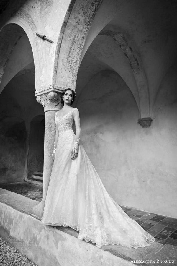 alessandra rinaudo bridal 2015 shaila long sleeve wedding dress a line silhouette