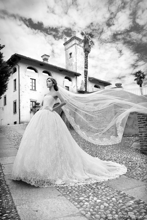 alessandra rinaudo bridal 2015 sibyl strapless ball gown wedding dress lace