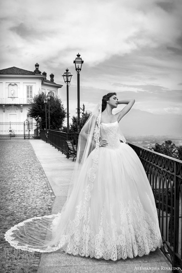 alessandra rinaudo bridal 2015 sienna strapless lace ball gown wedding dres