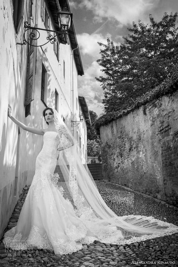 alessandra rinaudo bridal 2015 soraya strapless lace wedding dress fit flare silhouette