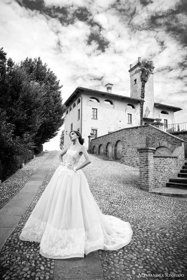 alessandra rinaudo bridal 2015 summer strapless lace ball gown wedding dress