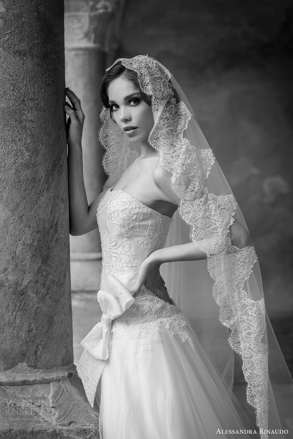 alessandra rinaudo bridal 2015 susan strapless wedding dress lace drop waist bodice bow