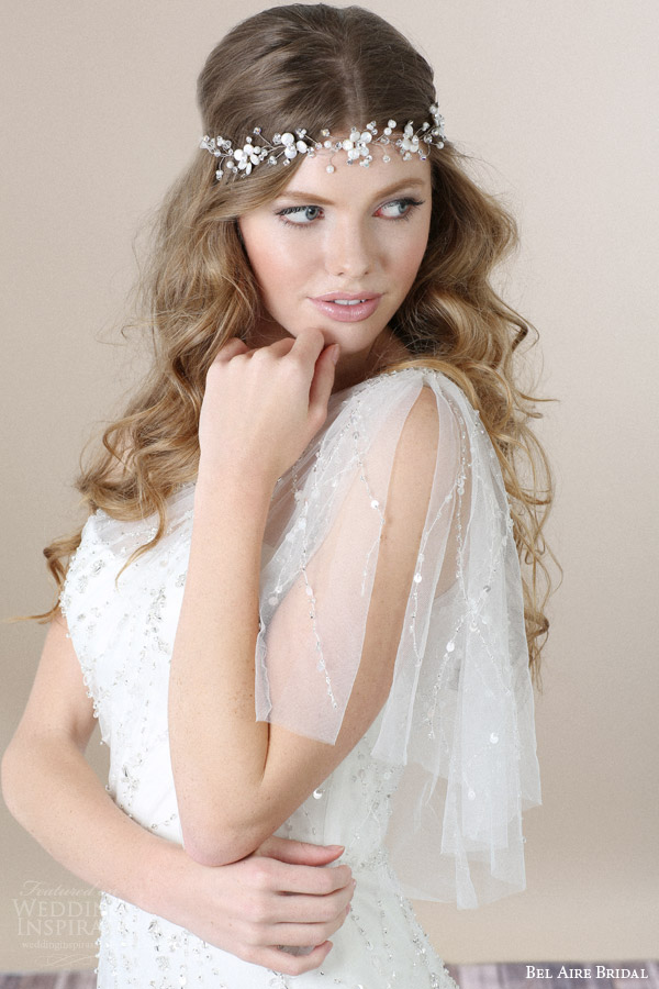 bel aire bridal 2015 wedding hair accessories delicate headband floral crown 947a8423