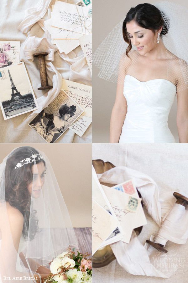 bel aire bridal veils 2015 hair accessories net veil tulle veil floral lace headband romantic love story vintage postcard