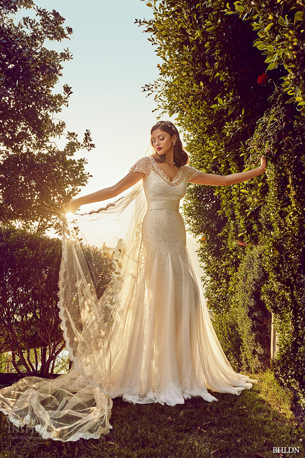 bhldn spring 2015 wedding dresses cap sleeves v neckline lace modified a line ivory bridal gown rosamund signe vilstrup photo los angeles california