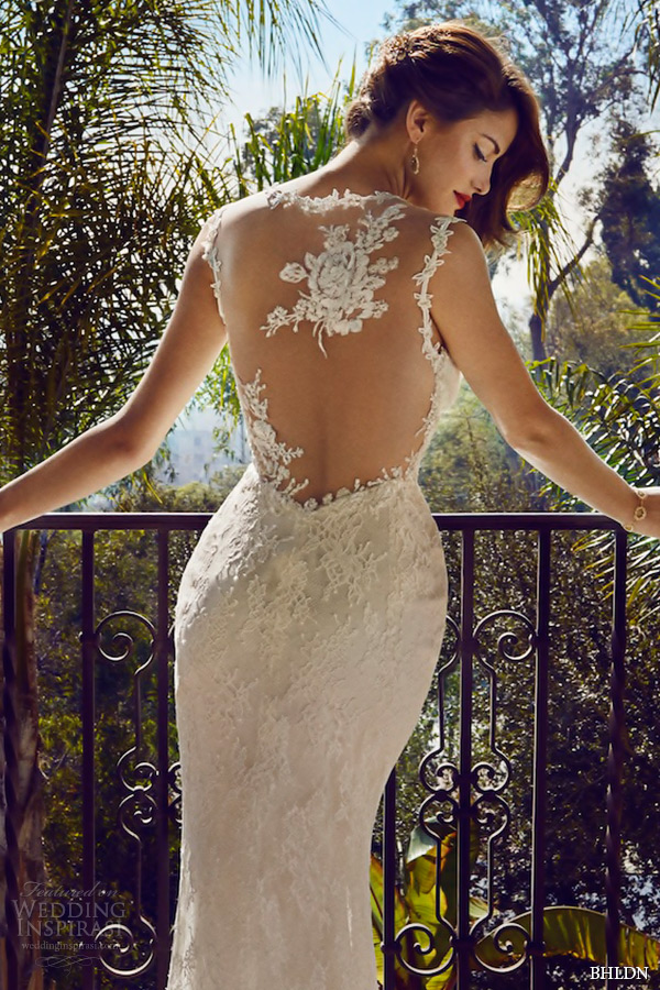 bhldn spring 2015 wedding dresses hollywood flora lace strap v neckline illusion lace back ivory modified a line gown briar rose back zoom