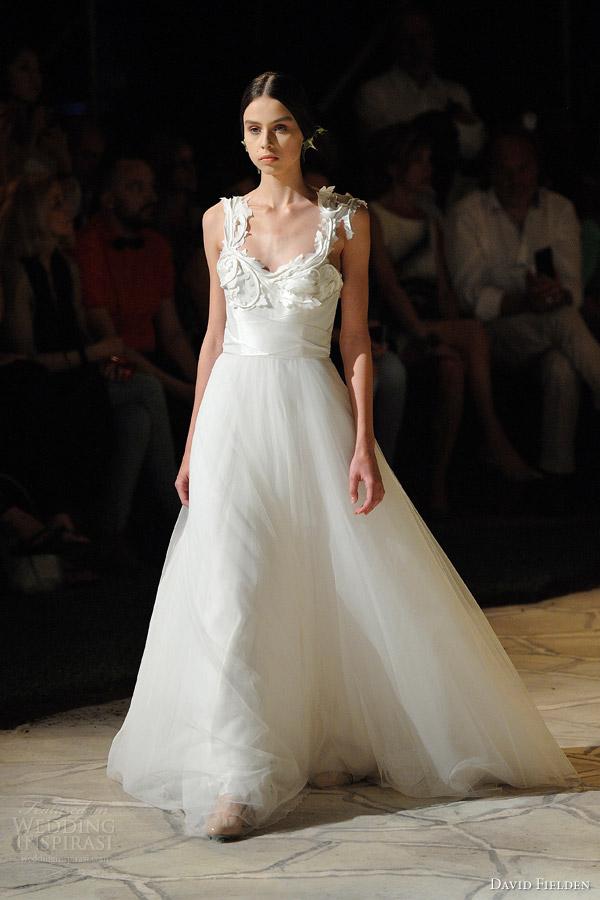 Wedding Dress Applique 55 Fancy david fielden bridal sleeveless