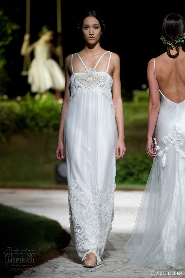 Wedding Gowns Empire Waist 31 Cool david fielden bridal sleeveless