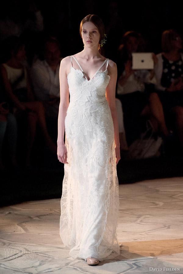 David Fielden 2017 Bridal 8358 Sleeveless Sheath Wedding Dress Double Straps