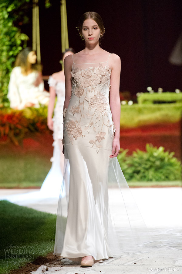 Applique Wedding Dress 76 Epic david fielden bridal sleeveless