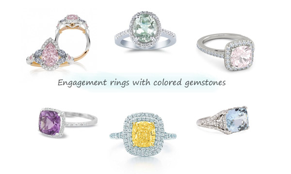 engagement rings with colored diamonds precious gemstones semi precious gems diamond ring
