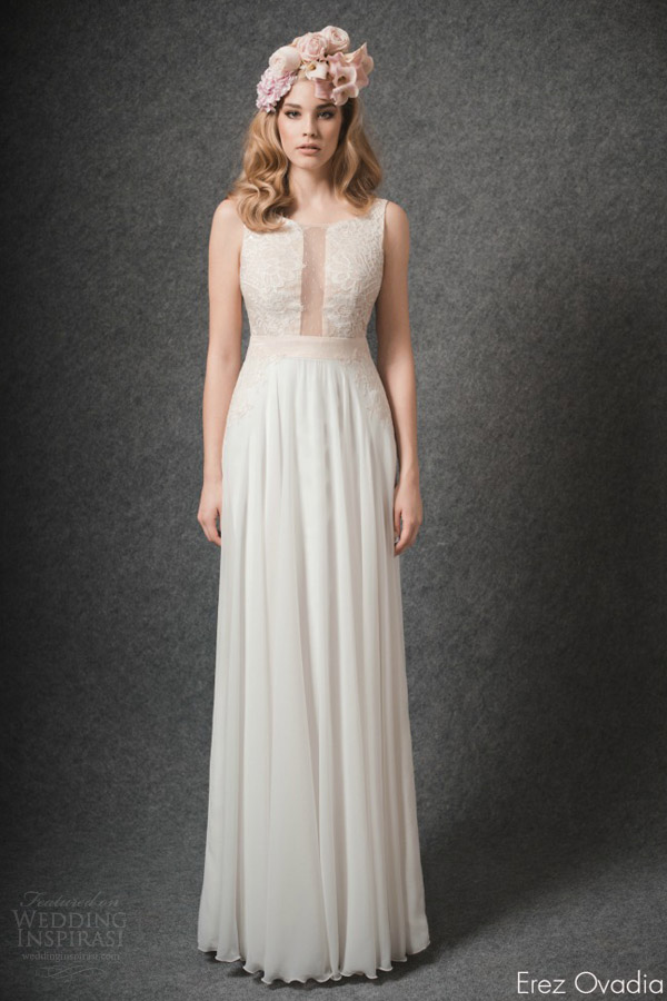 erez ovadia 2015 blossom bridal collection emma sleeveless wedding dress