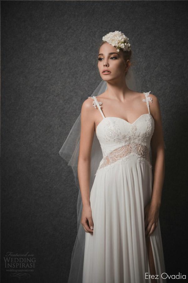 erez ovadia 2015 bridal lia sleeveless wedding dress embellished straps